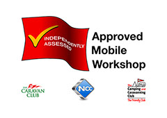 caravan club approved mobile workshop caravan servicing